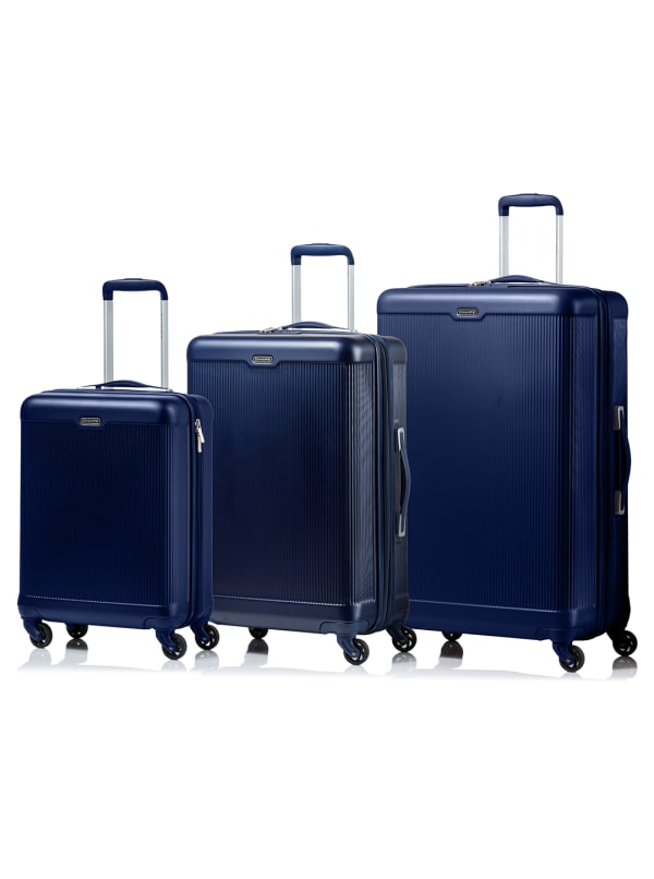 Champs 3-Piece Aspire Hardside Luggage Set - Navy - Front