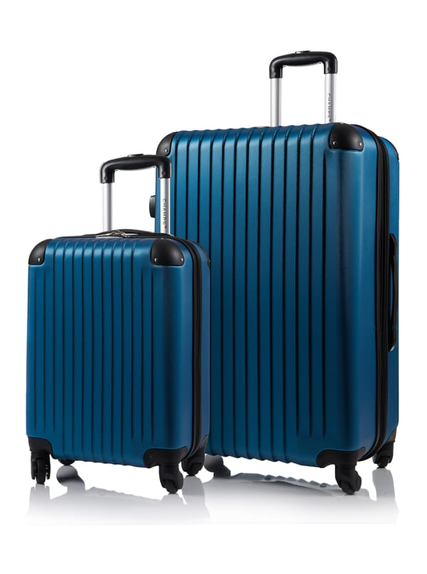 Champs 2-Piece Tourist Hardside Luggage Set - Blue - Front
