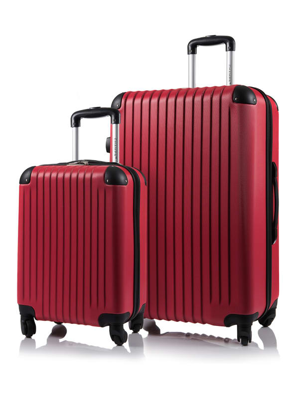 Champs 2-Piece Tourist Hardside Luggage Set - Red - Front