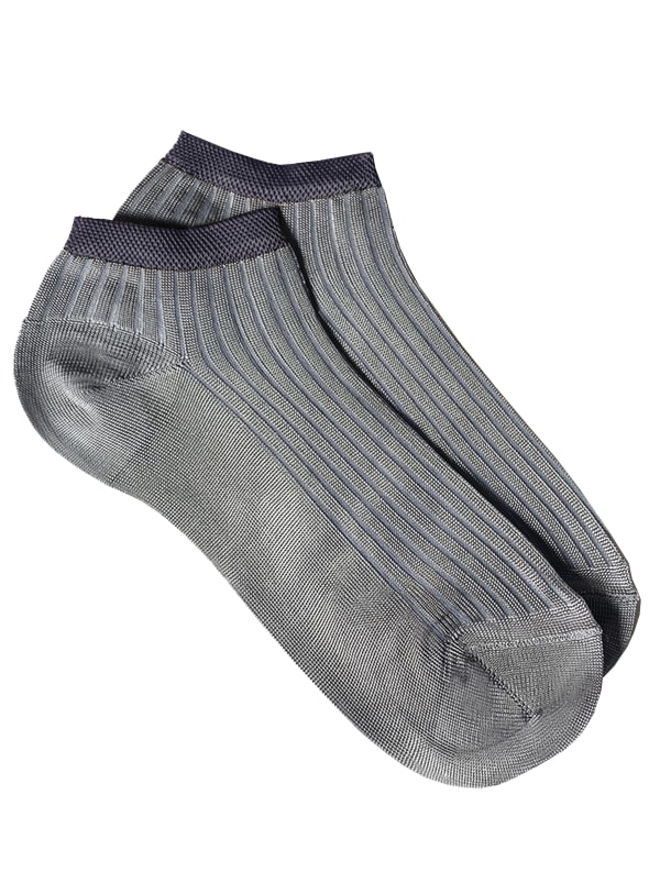 Sneaker Block Socks - Grey - Front