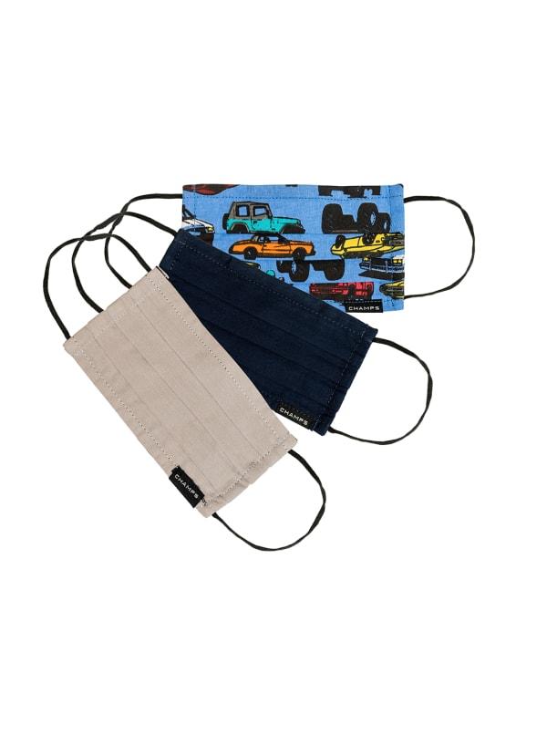Champs - Kids Boys Cotton Triple Layer Mask 3 PC Set