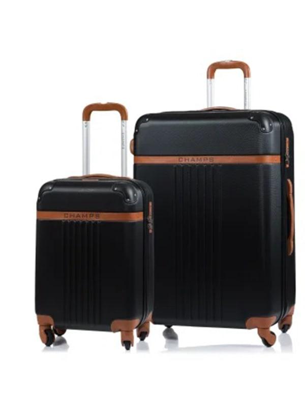 Champs 2-Piece Vintage Hardside Luggage Set