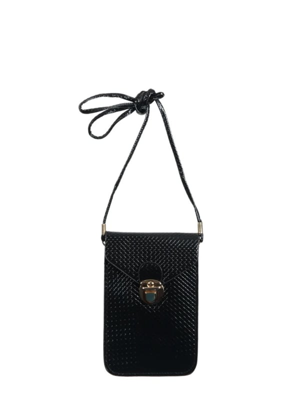 Champs Smartphone Sling Bag - Black - Front