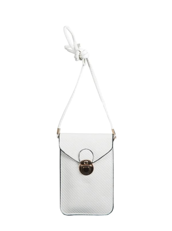 Champs Smartphone Sling Bag - White - Front