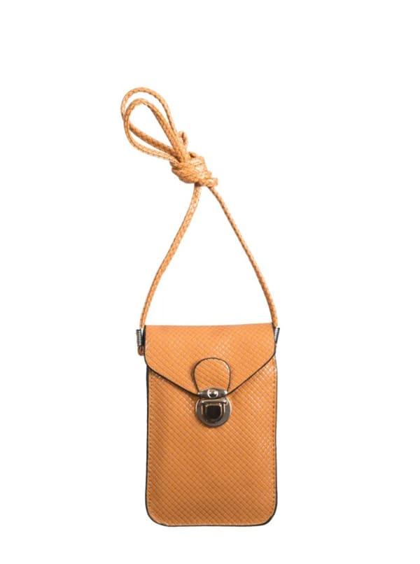 Champs Smartphone Sling Bag - Tan - Front