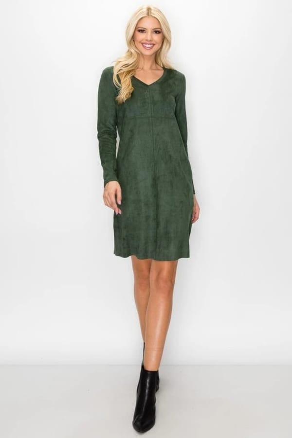 Aurora Long Sleeve V-Neck Dress