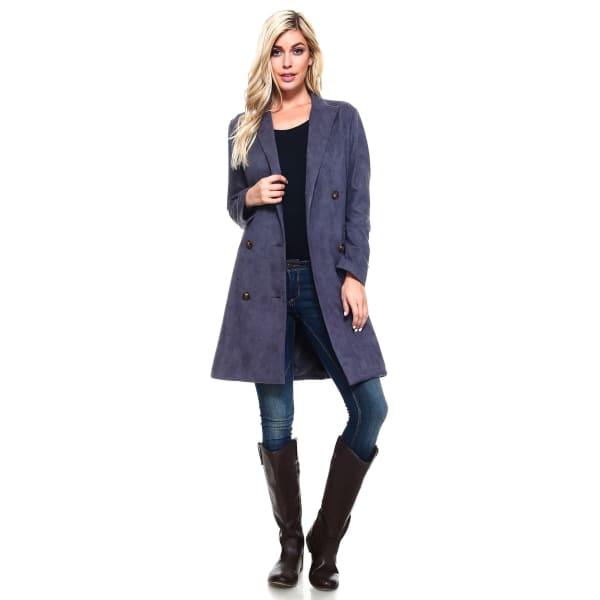 Amber Coat - Charcoal - Front