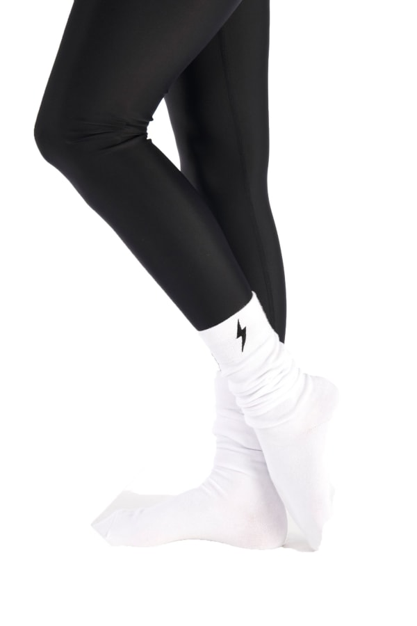 Long Socks - White - Front