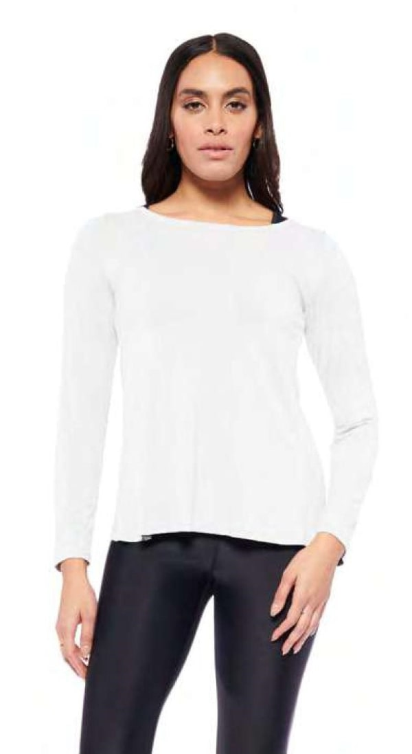 Mind Over Matter Long Sleeve Top - White - Front