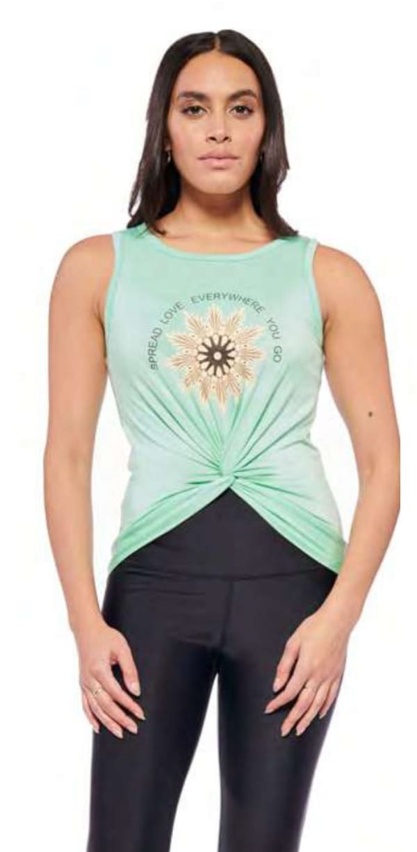 Spread Love Top - Mint - Front