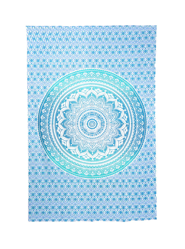 Sky Blue Twin Tapestry - Sky Blue - Front