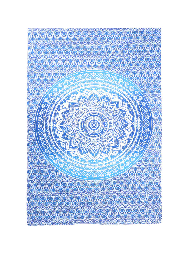 White Blue Twin Tapestry