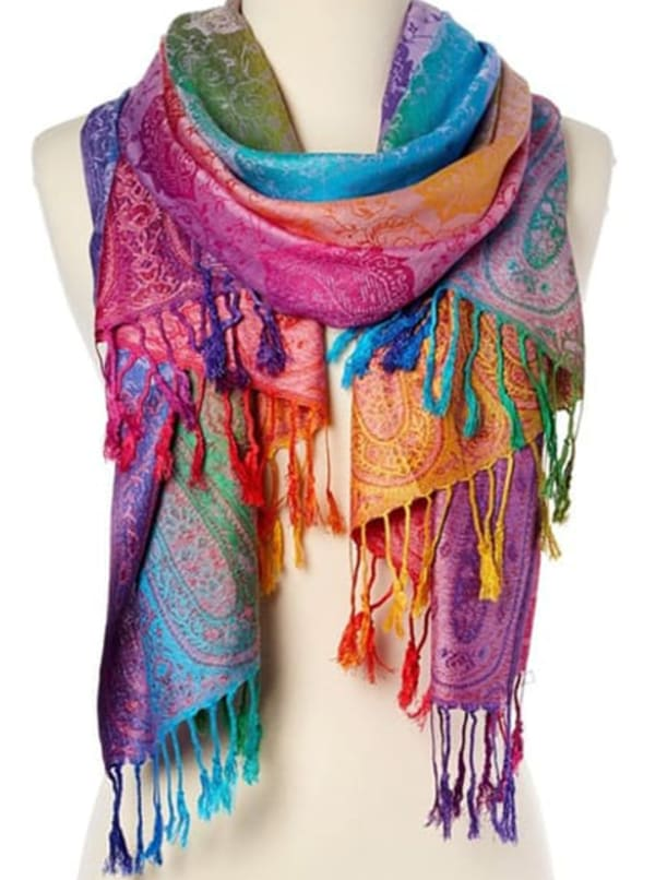 Pashmina Scarf - Purple - Front