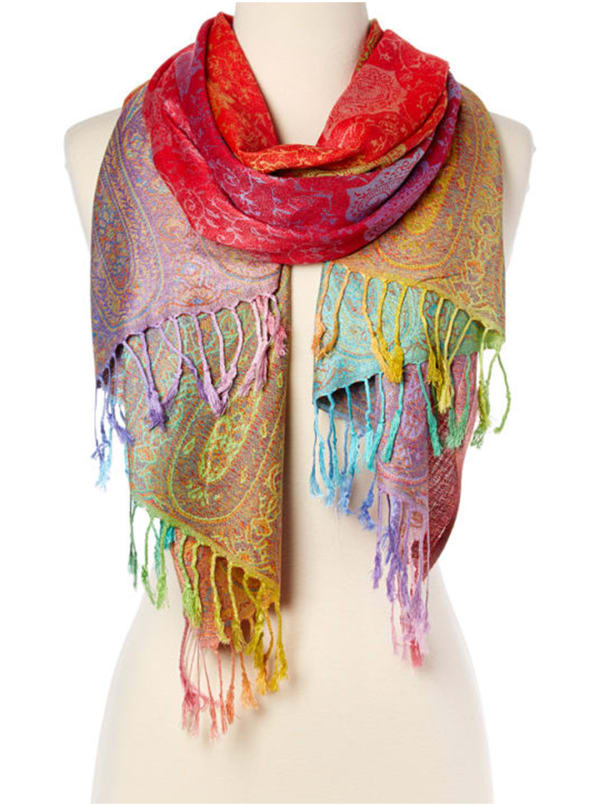 Pashmina Scarf - Red - Front