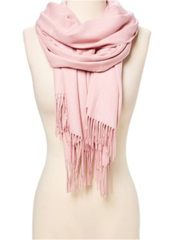 Light Pink Pashmina Scarf