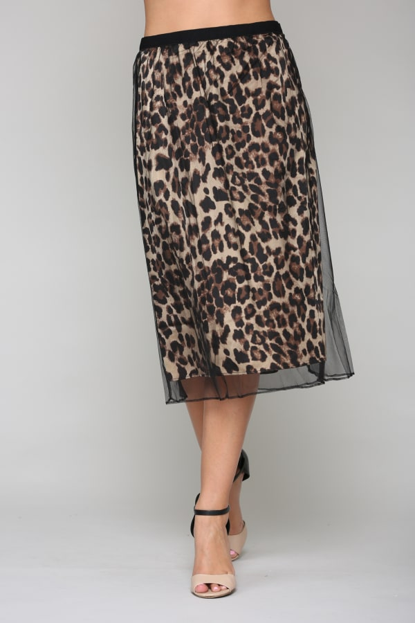 Winnie Animal Print Skirt