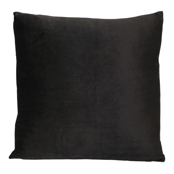 Black Textured Velvet Square Pillow