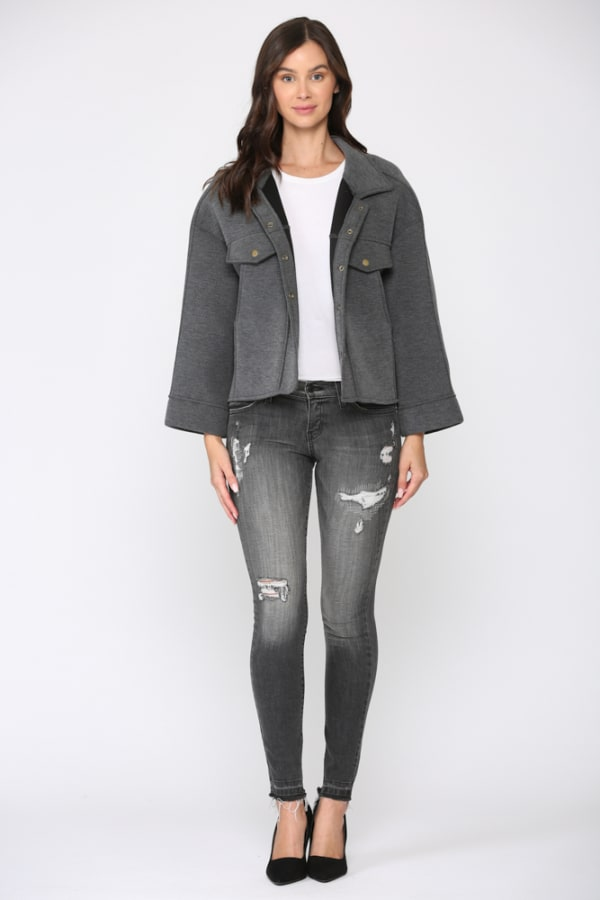 Fannie Jacket - Charcoal - Front