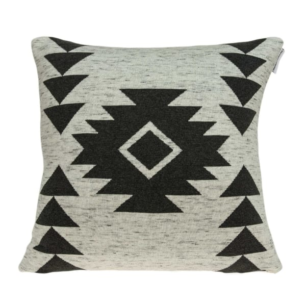 Heather Tan and Grey Southwest Design Cotton Pillow Cover