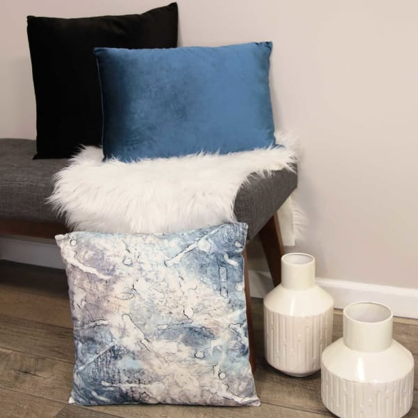 Watercolor Acid Relief Square Pillow