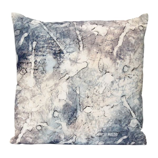 Watercolor Acid Relief Square Pillow