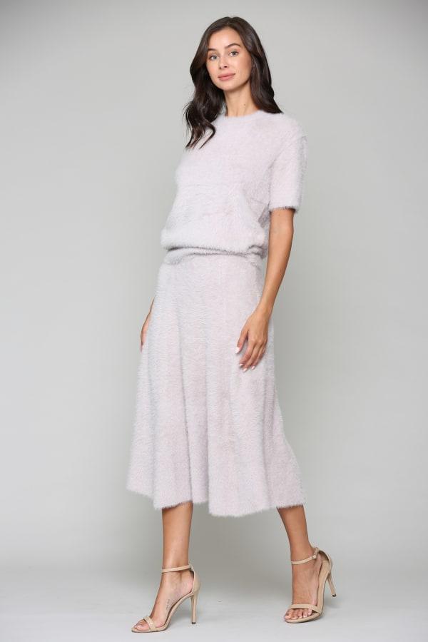 Stephanie A-Line Skirt - Blush - Front