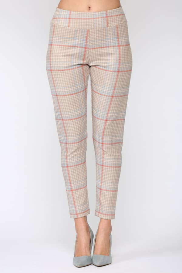 Plaid Annelise Pant - Plaid - Front