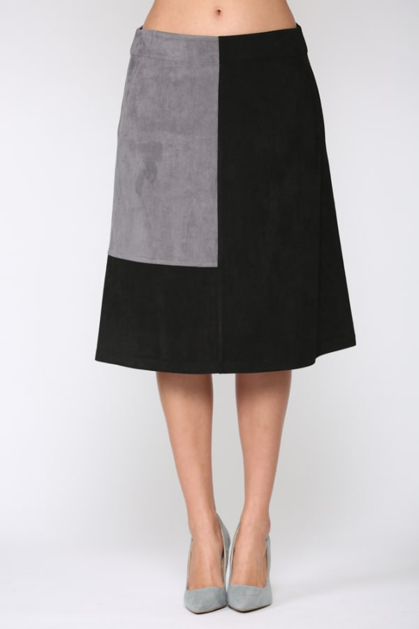 Alexandra Skirt - Gray / Black - Front