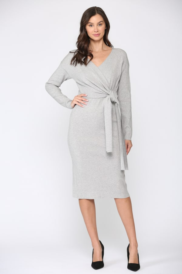 Shay Dress - Gray - Front