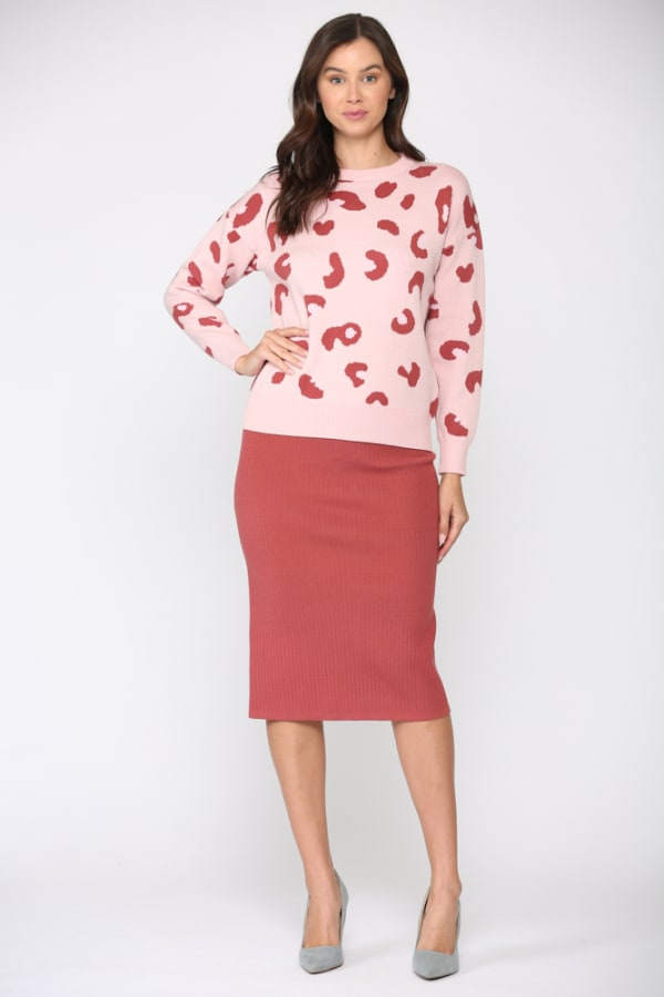 Sharlet Top -Pink red - Front
