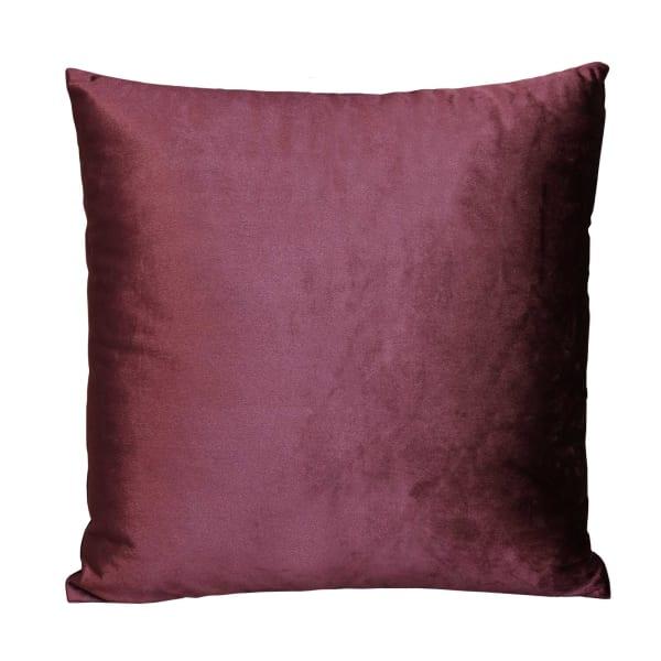 Merlot Purple Textured Velvet Square Pillow