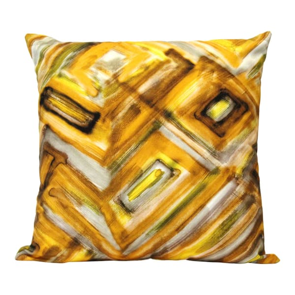 Shades of Yellow Abstract Design Square Pillow