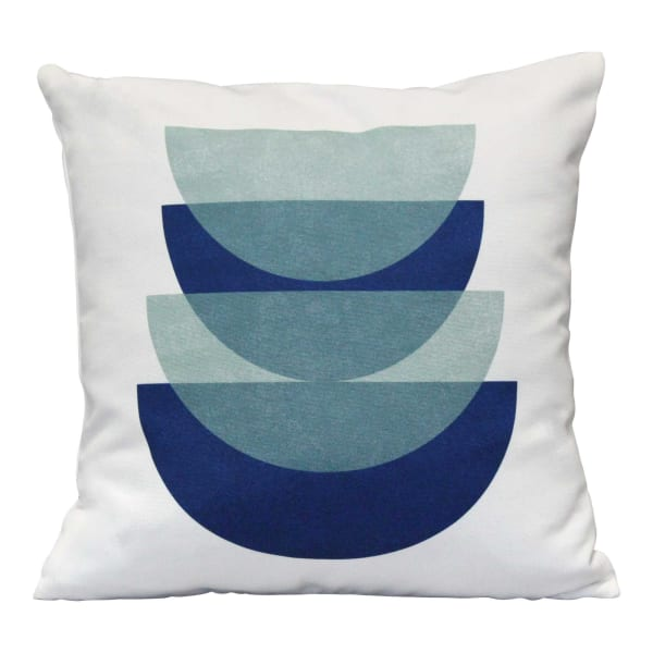 Shades of Blue Abstract Velvet Square Pillow