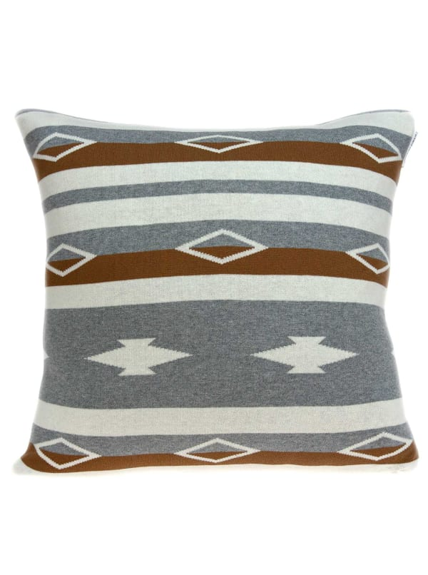 Square Decorative Southwest Tan Pillow Cover