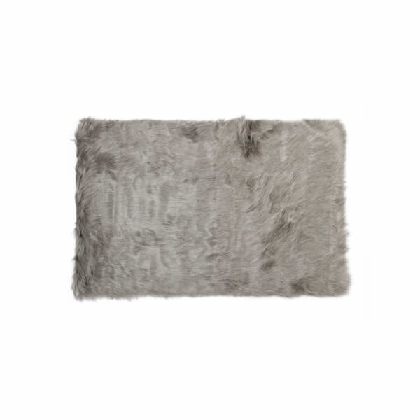 "60"" x 96"" Gray, Sheepskin - Rug / Throw"