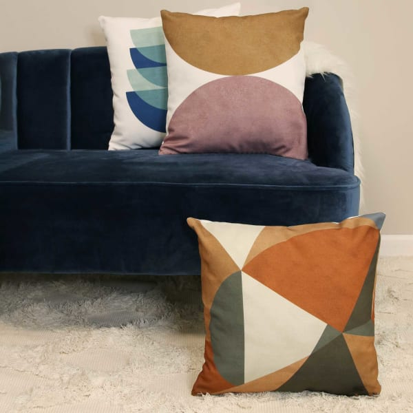 Neutral Tones Abstract Velvet Square Pillow
