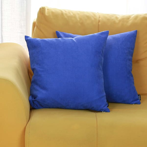 """18"""" X 18"""" Sapphire Blue Honey Decorative Throw Pillow Cover 2 Pieces In Set"""