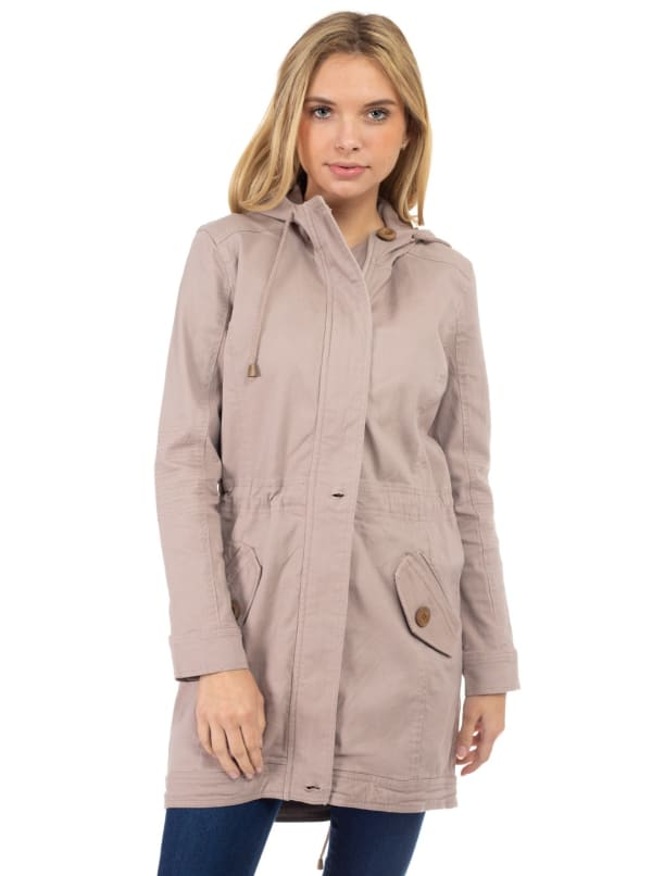 Long Cotton Hooded Anorak Jacket