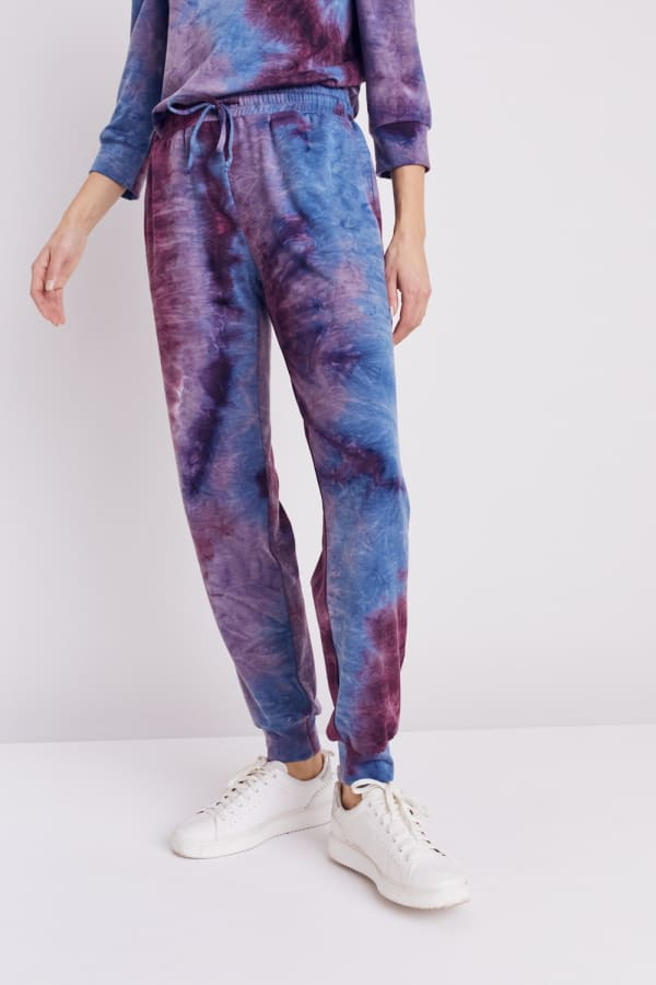 DB Sunday French Terry Tie Dye Jogger - Misses - Blue/Purple - Front