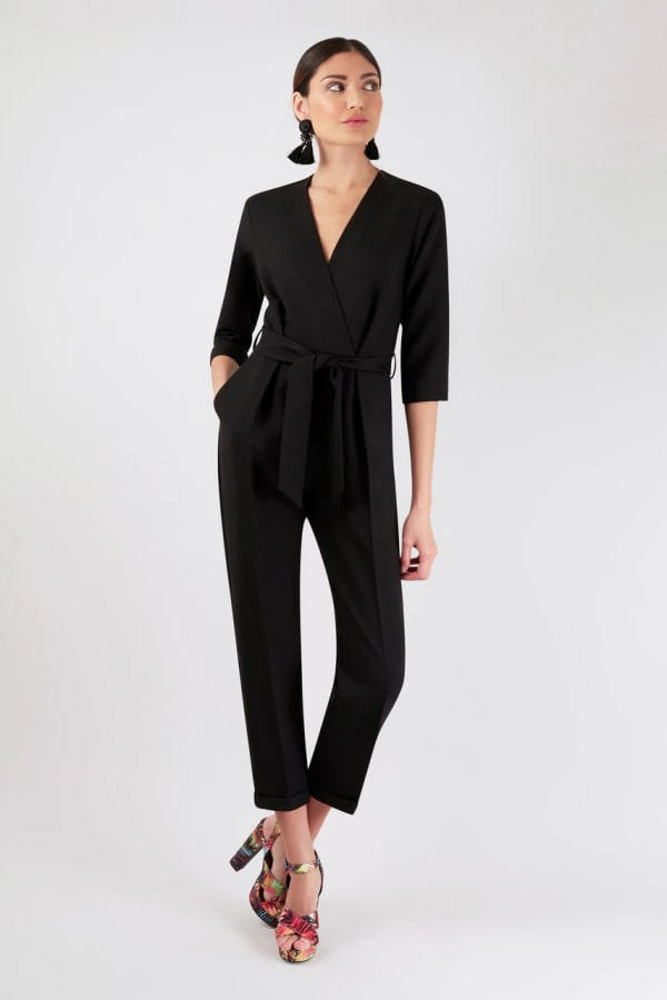 Black Cross Over Jumpsuit