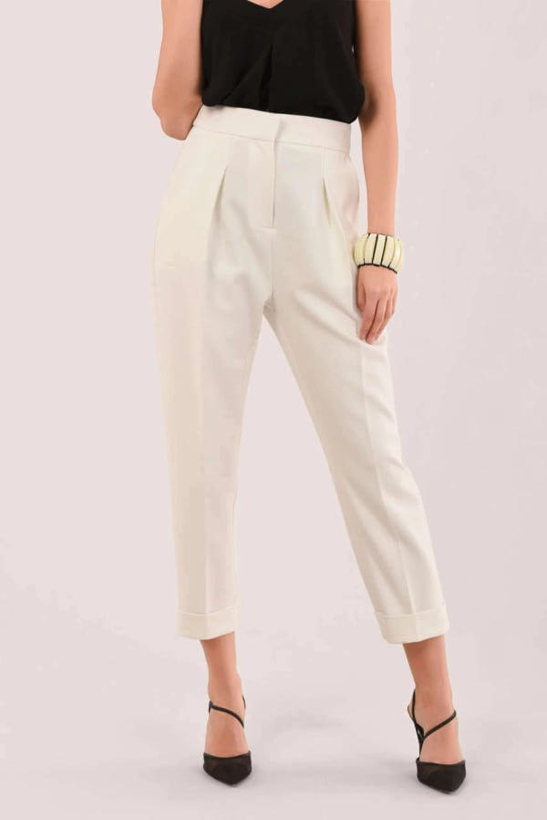 White Tailored Pants