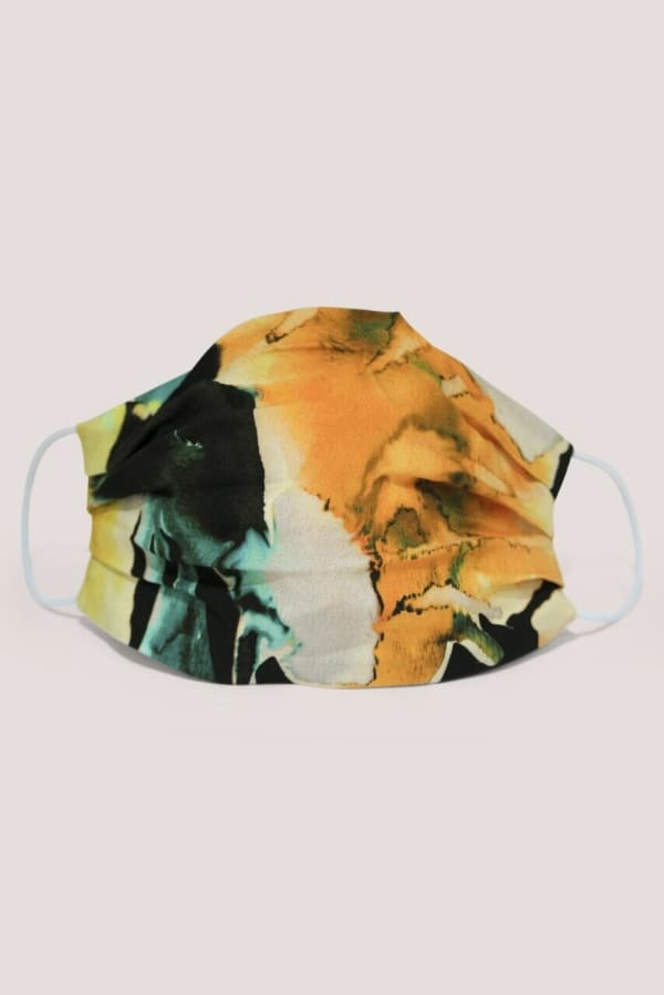 Green Printed Fabric Face Mask