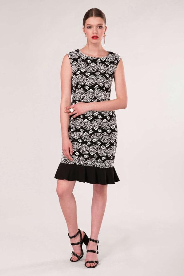 Black Pep - Hem Pencil Dress