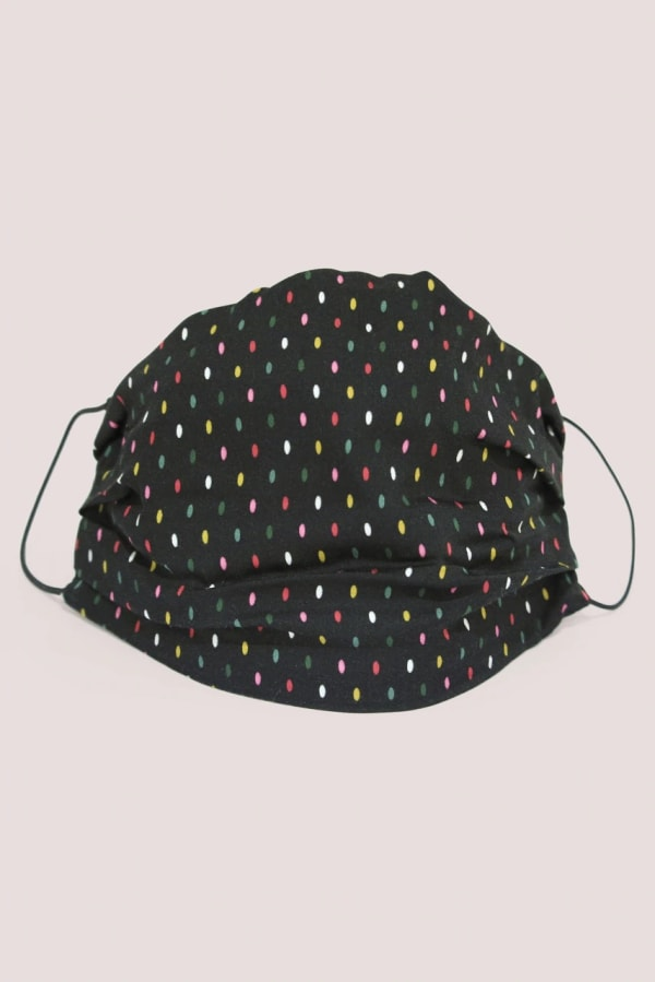 Black Spots Double Layer Fabric Face Mask