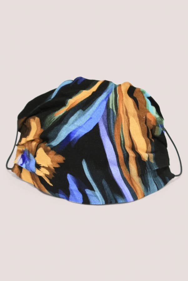Blue Double Layer Fabric Face Mask