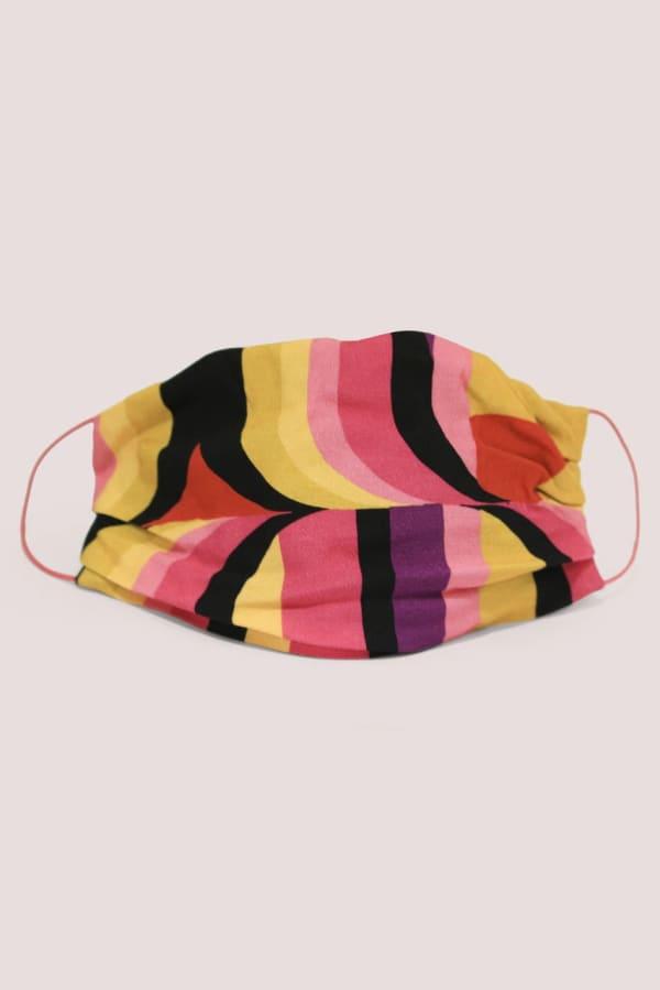 Dark Pink Swirl Double Layer Fabric Face Mask