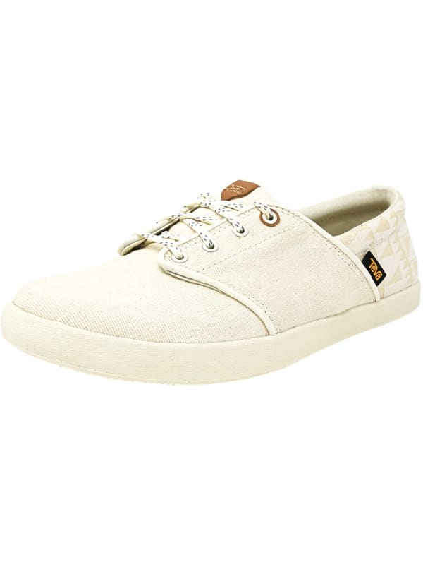 Teva Women's Willow Lace Ankle-High Canvas Sneaker - White - Front