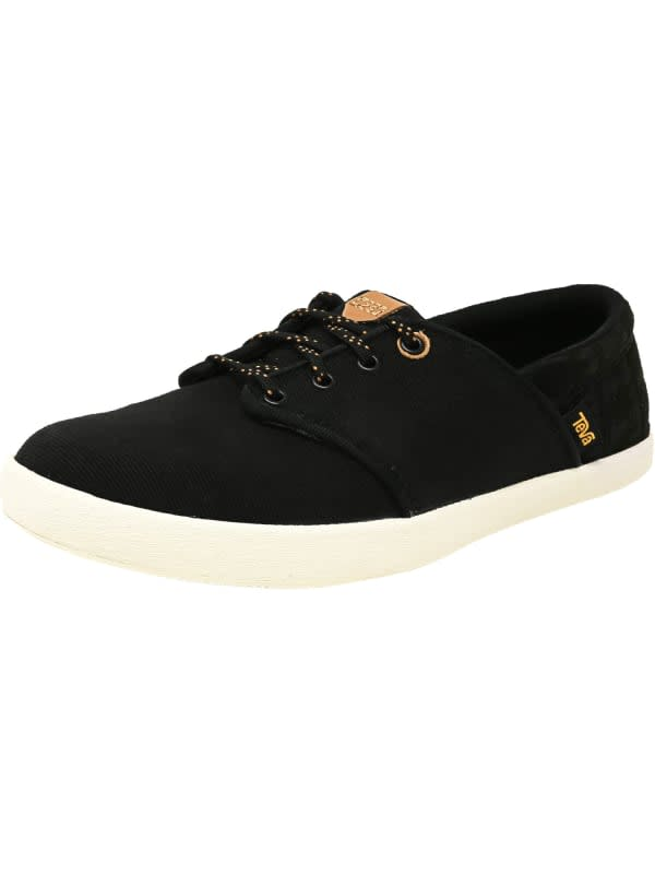 Teva Women's Willow Lace Ankle-High Canvas Sneaker - Black - Front