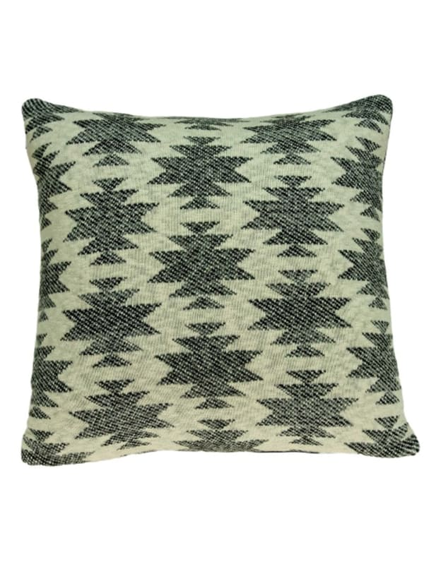 Square Southwest Cool Gray Accent Pillow Cover