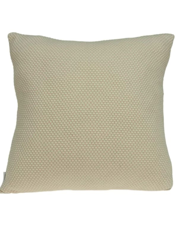 Casual Square Knit Beige Accent Pillow Cover